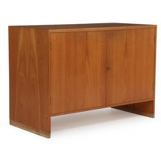 Hans J. Wegner: Cabinet of teak with two doors