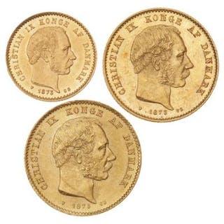 20 Kr 1873, 1873 CS, H 8A, F 295; 10 Kr 1873 CS, H 8A, F 295. (3)