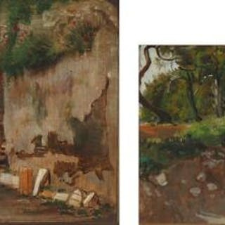 Axel Helsted: Two studies from Italiy