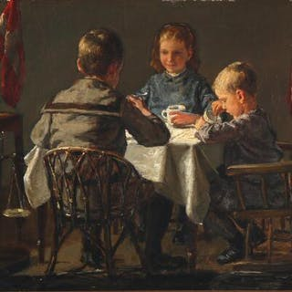 Axel Helsted: The three children of the artist