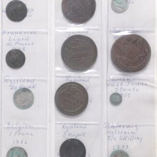 Collection of coins from