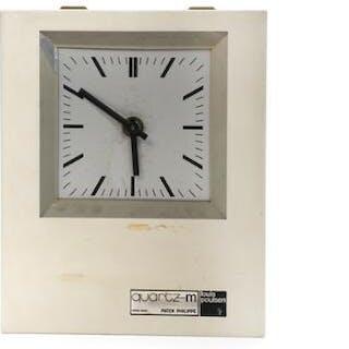 Patek Philippe: Wall clock of white painted steel