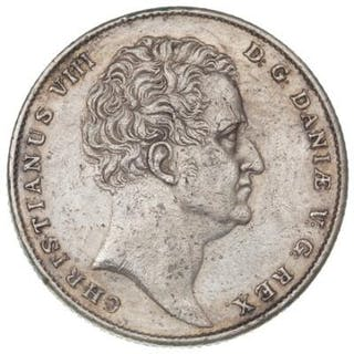 Christian VIII, speciedaler 1847 FF, H 3C, scratched and with many spots