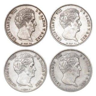 Christian VIII, rigsbankdaler 1847 VS (3 pcs), and 1848 VS, H 4A