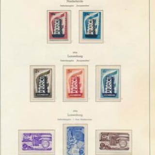 Europe. CEPT. 1956–1972. Complete unmounted mint collection in a binder.