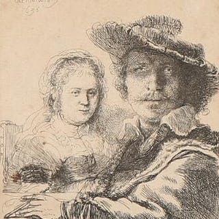 Rembrandt van Rijn: Self-Portrait with Saskia