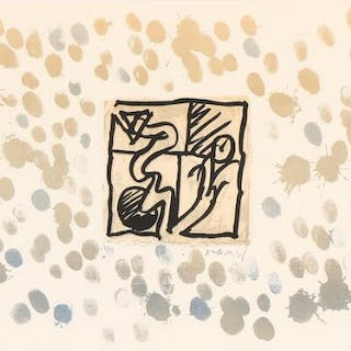 """Pierre Alechinsky: Composition from the serie """"Lino-Litho"""""""