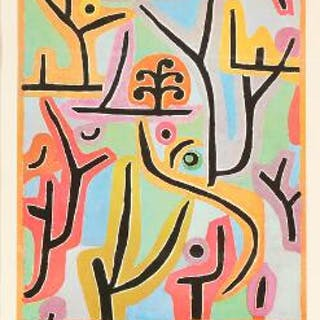 Paul Klee: Exhibition poster from Statens Museum for Kunst