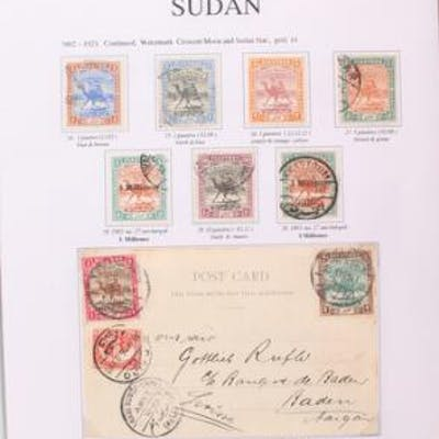 Sudan. 1897.1960. very beautiful small exhibition collection
