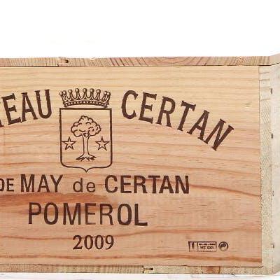 12 bts. Château Certan De May, Pomerol 2009 A (hf/in). Owc.