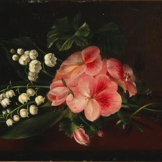 William Hammer: A bouquet of flowers on a table