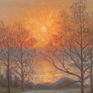 Oscar Matthiesen: Sunrise on the Hudson River