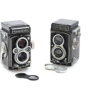Two Rolleiflex cameras