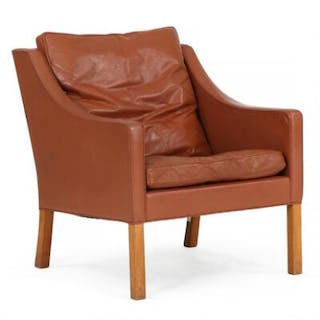 Børge Mogensen: Easy chair with mahogany legs