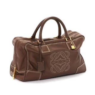 LOEWE: A bag of brown leather