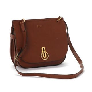 Mulberry: A brown shoulder bag with a large compartment