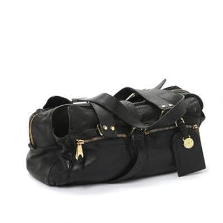 "Mulberry: A ""Mabel"" bag of embossed black leather"