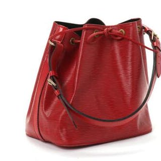 """Louis Vuitton: A """"Petit Noe"""" bag of red Epi leather"""
