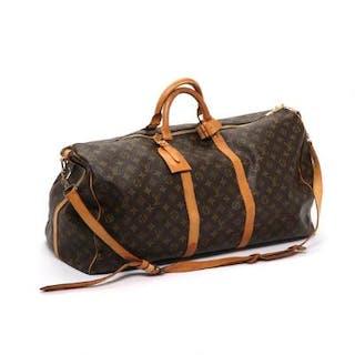 "Louis Vuitton: A ""Keepall 60"" in brown monogram canvas"