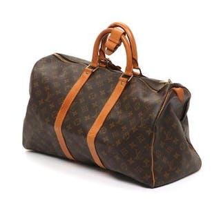 "Louis Vuitton: A ""Keepall 45"" in brown monogram canvas"