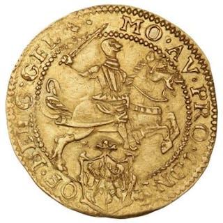 Netherlands, Gelderland, 1/2 Cavalier d´or 1607, F 241, Delmonte 652, 4.88 g
