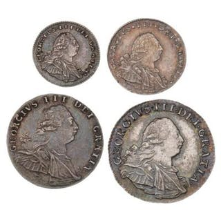 England, George III, Maundy Set, 4, 3, 2 and 1 penny 1800. (4)