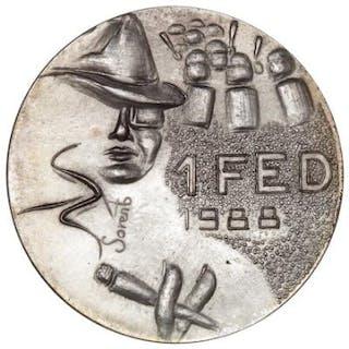 "Free City of Christiania, 1 Fed 1988 ""Bogart"", Ag, Sieg 4.2"