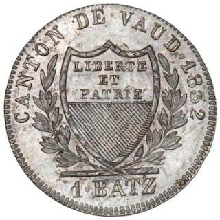 Switzerland, Vaud, Batzen 1832, KM 20