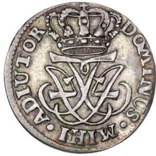 Frederik IV, 8 skilling 1728, H 53, Sieg 7 - rare type