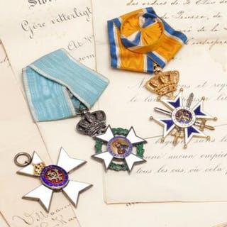 Collection of medals awarded to Karl baron Wedell-Wedellsborg