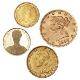 USA, 10 Dollar 1897 kopi i Au (16,70 g) og Au medalje (3,71 g)