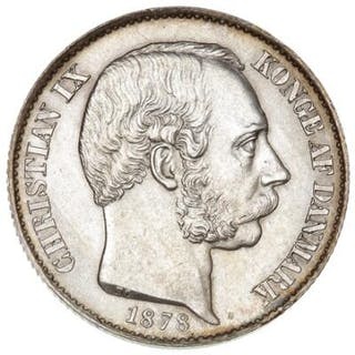 Danish West Indies, Christian IX, 20 Cents 1878, H 25, Sieg 23, KM 71