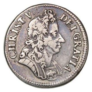 Christian V, krone 1693, H 104, Sieg 24 - nice 'fat crown'