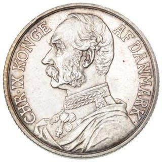 Danish West Indies, Christian IX, 1 Franc / 20 Cents 1905, H 32, KM 79