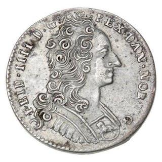 Frederik IV, 8 skilling 1729, Copenhagen, H 54, Sieg 8, S 1 - Nice specimen
