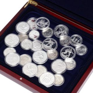 Collection of Danish and foreign silver coins and medals
