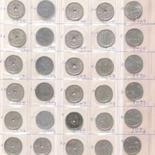 4 albums with larger collection of coins from Norway and Sweden