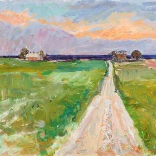 Inge Blomqvist: Landscape. Signed J. Blomqvist. Oil on canvas. 55×66 cm.