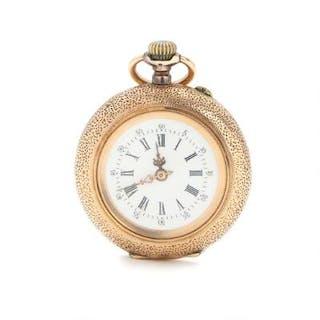 A lady's 14k gold pocket watch