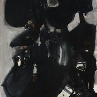 Mogens Andersen: Untitled. Signed Mogens Andersen 66. Oil on canvas. 92×73 cm.