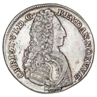 Christian VI, 24 skilling 1731, H 6B, Sieg 3.2, S 4 - ex. Zinck