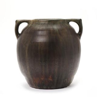 Patrick Nordström: A large stoneware jar modelled with two handles