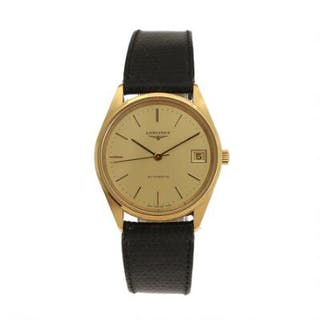 Longines: A gentleman's wristwatch of gold plated metal