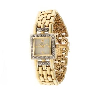 Zola: A lady's wristwatch of 14k gold, ref. 502–14. Quartz movement. 2000s.