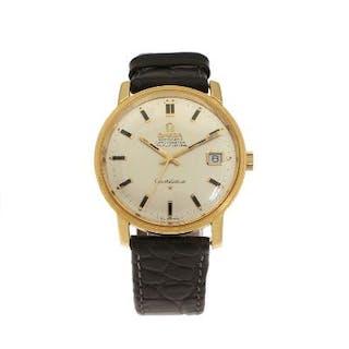 Omega: A gentleman's wristwatch of 18k gold
