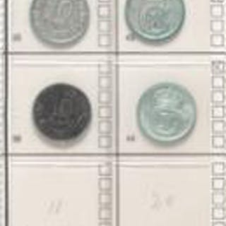 2 albums with Danish decimal coins incl