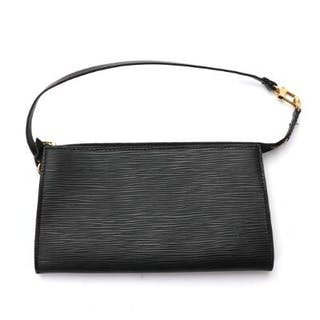 "Louis Vuitton: An ""Accessory Pouch"" of black Epi leather"