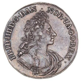Frederik IV, krone 1701, H 36, edge nicks and traces of mouning