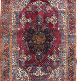 Semi-antique Yazd/ Kirman carpet