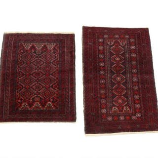 Two Persian Meshed rugs